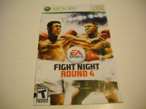 Manual ONLY ~  for Fight Night Round 4   - Xbox 360 Instruction Booklet