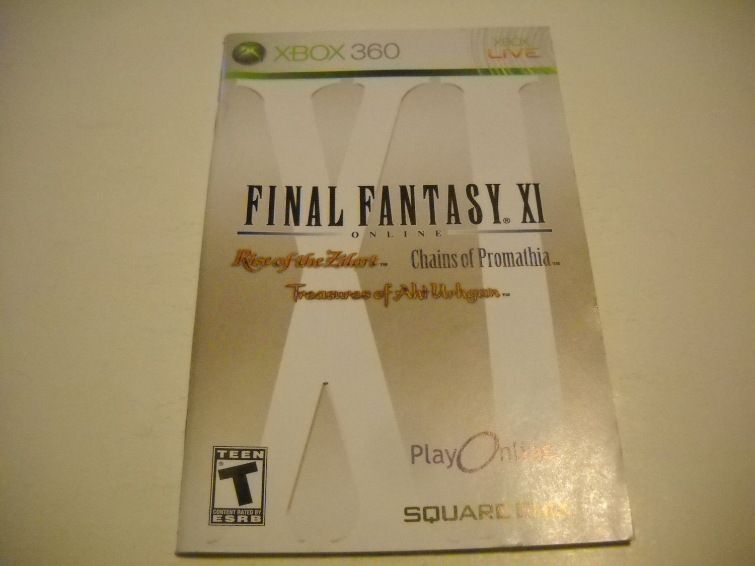 Manual ONLY ~  for Final Fantasy XI   - Xbox 360 Instruction Booklet