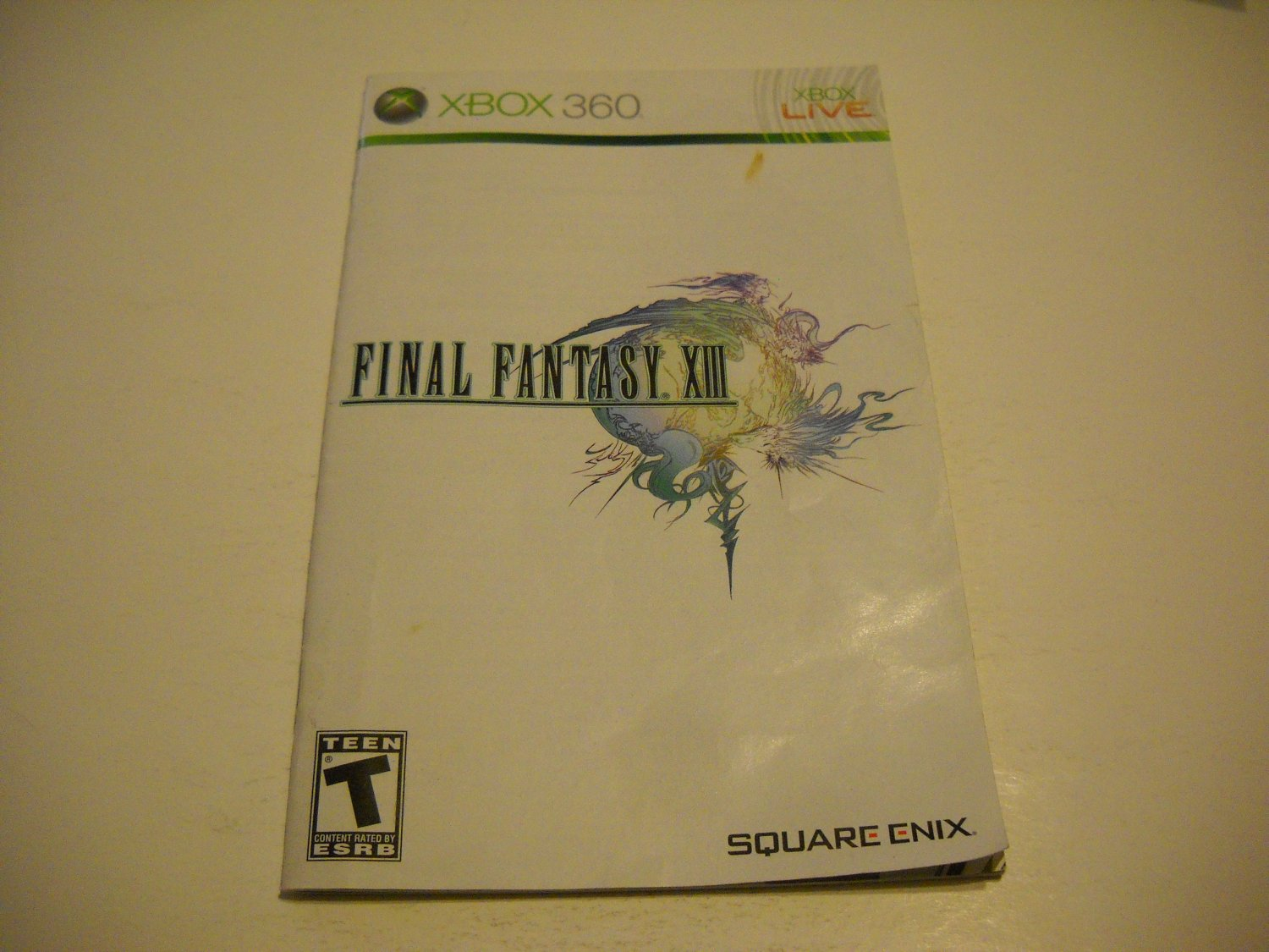 Manual ONLY ~  for Final Fantasy XIII / 13   - Xbox 360 Instruction Booklet