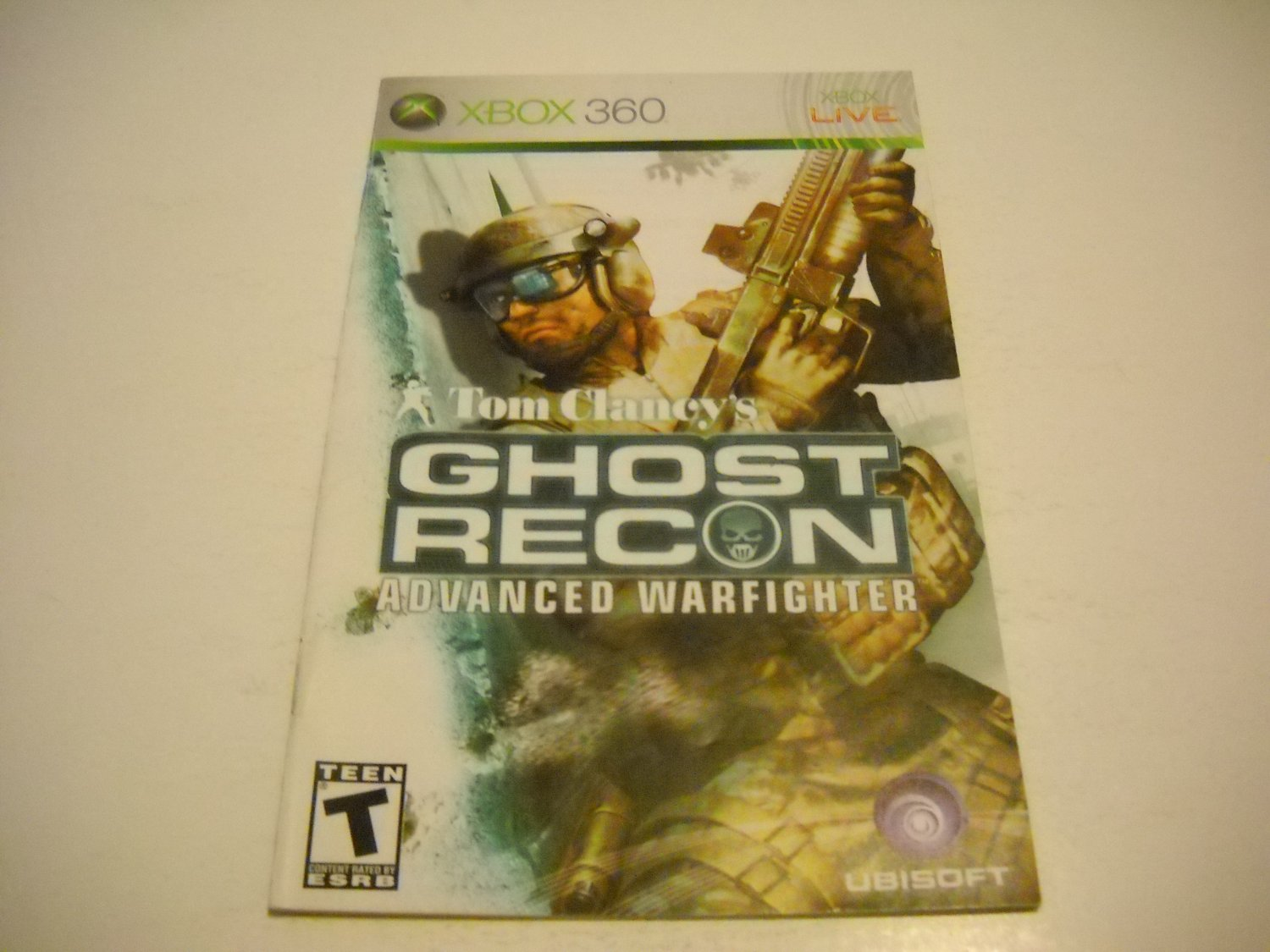 Manual ONLY ~  for Tom Clancy's Ghost Recon Advanced Warfighter   - Xbox 360 Instruction Booklet