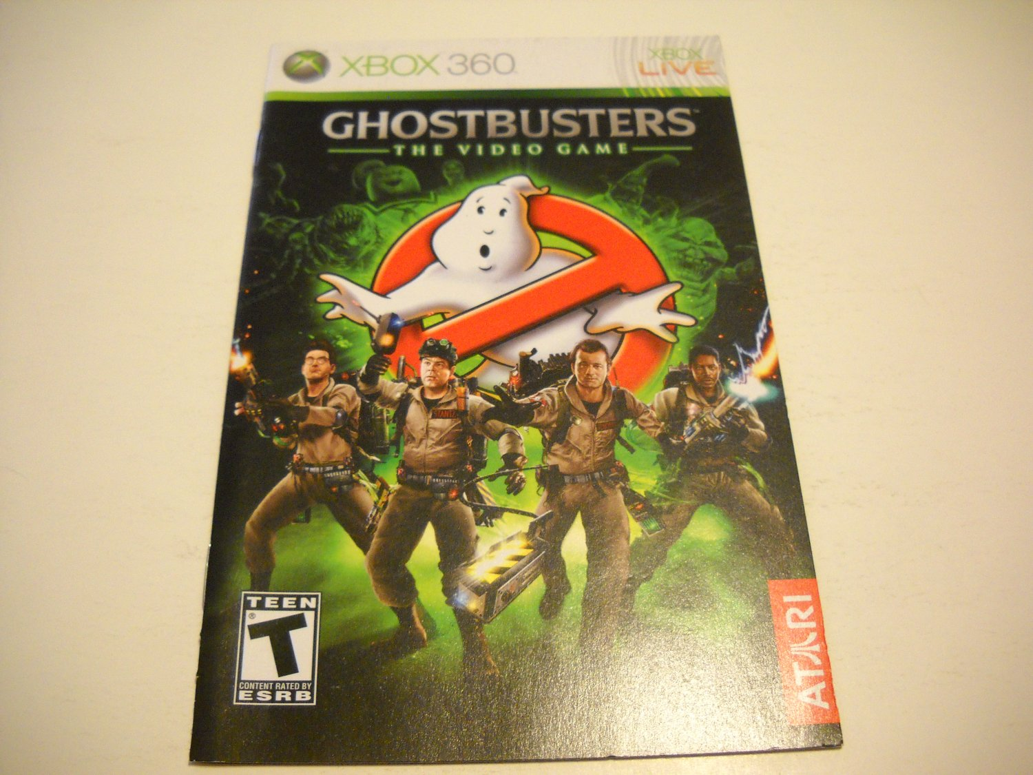 Manual ONLY ~  for Ghostbusters The Video Game   - Xbox 360 Instruction Booklet