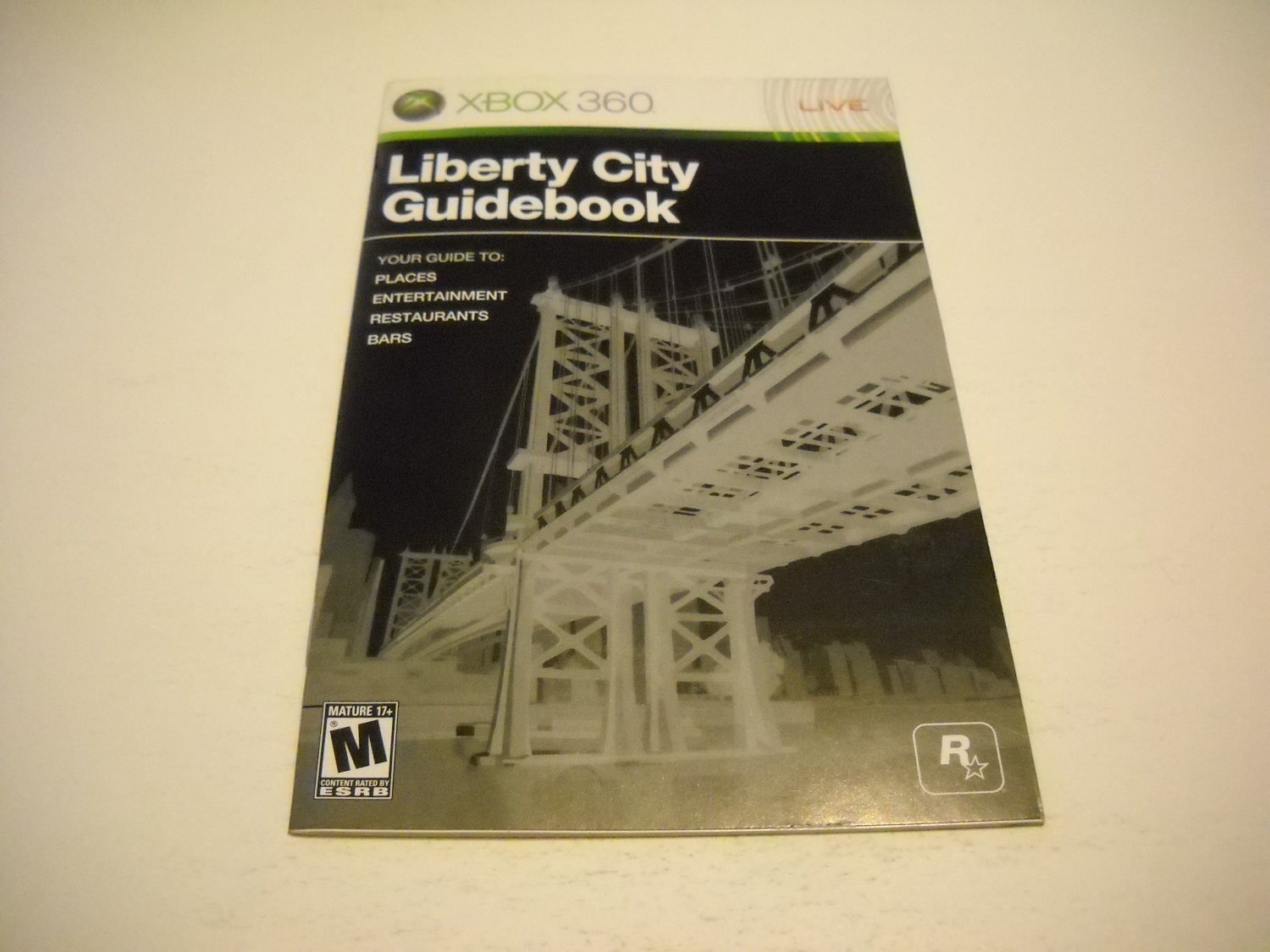 Manual ONLY ~  for Grand Theft Auto Liberty City Guidebook   - Xbox 360 Instruction Booklet
