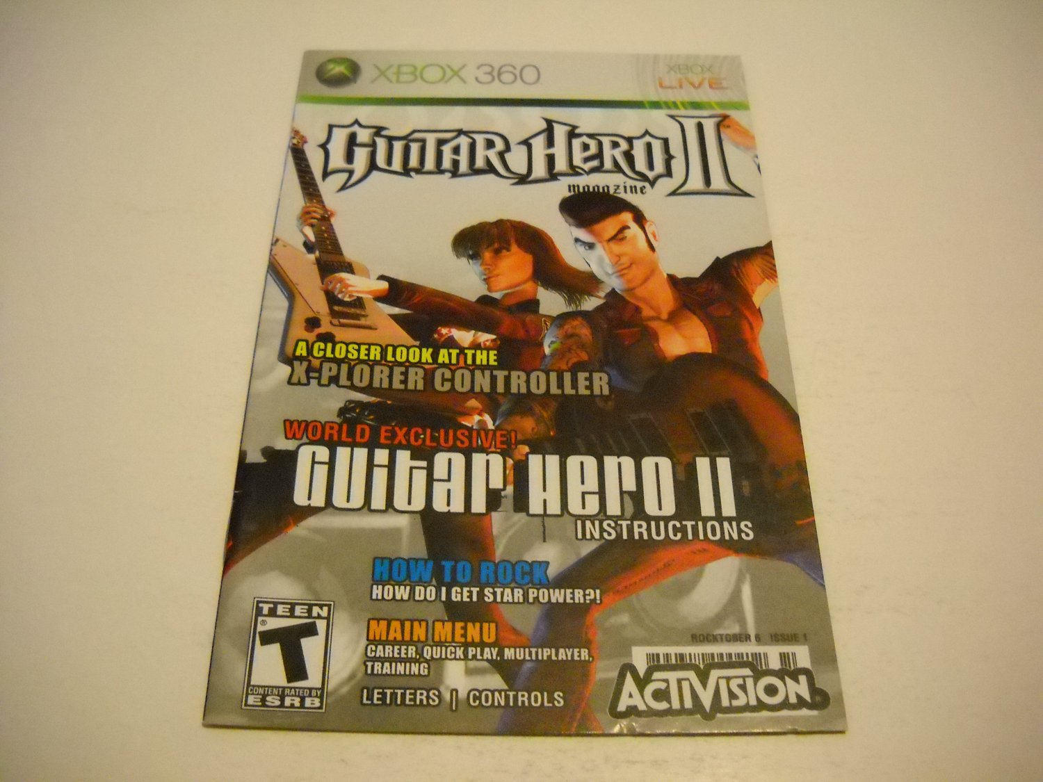 Manual ONLY ~  for Guitar Hero II   - Xbox 360 Instruction Booklet