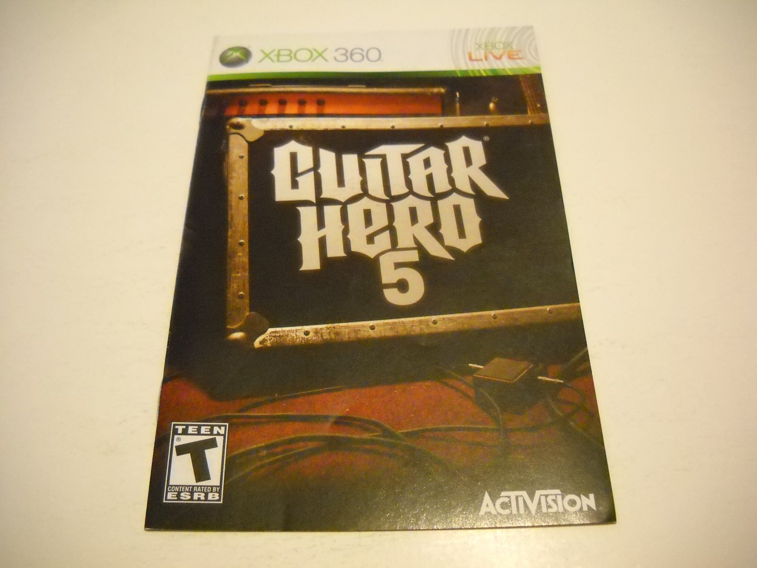 Manual ONLY ~  for Guitar Hero 5   - Xbox 360 Instruction Booklet
