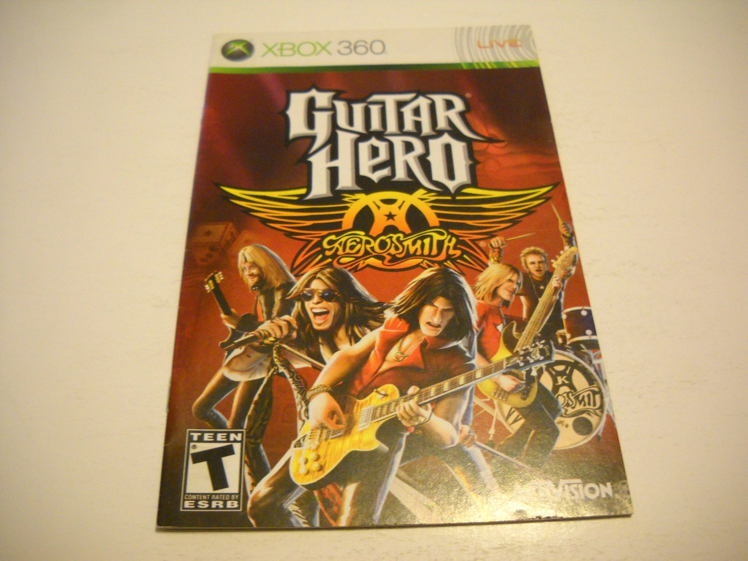 Manual ONLY ~  for Guitar Hero Aerosmith   - Xbox 360 Instruction Booklet
