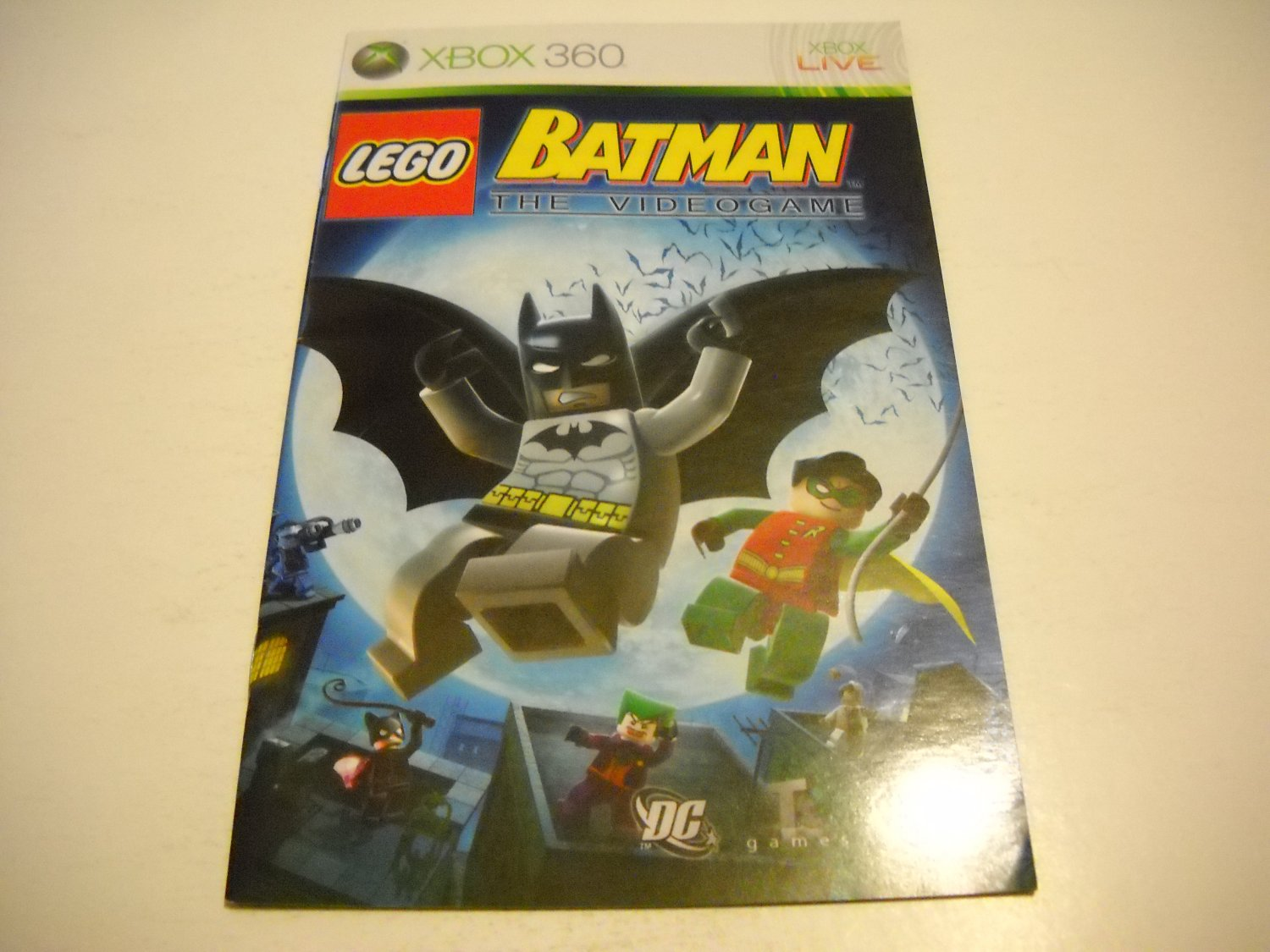 Manual ONLY ~  for Lego Batman the Videogame   - Xbox 360 Instruction Booklet