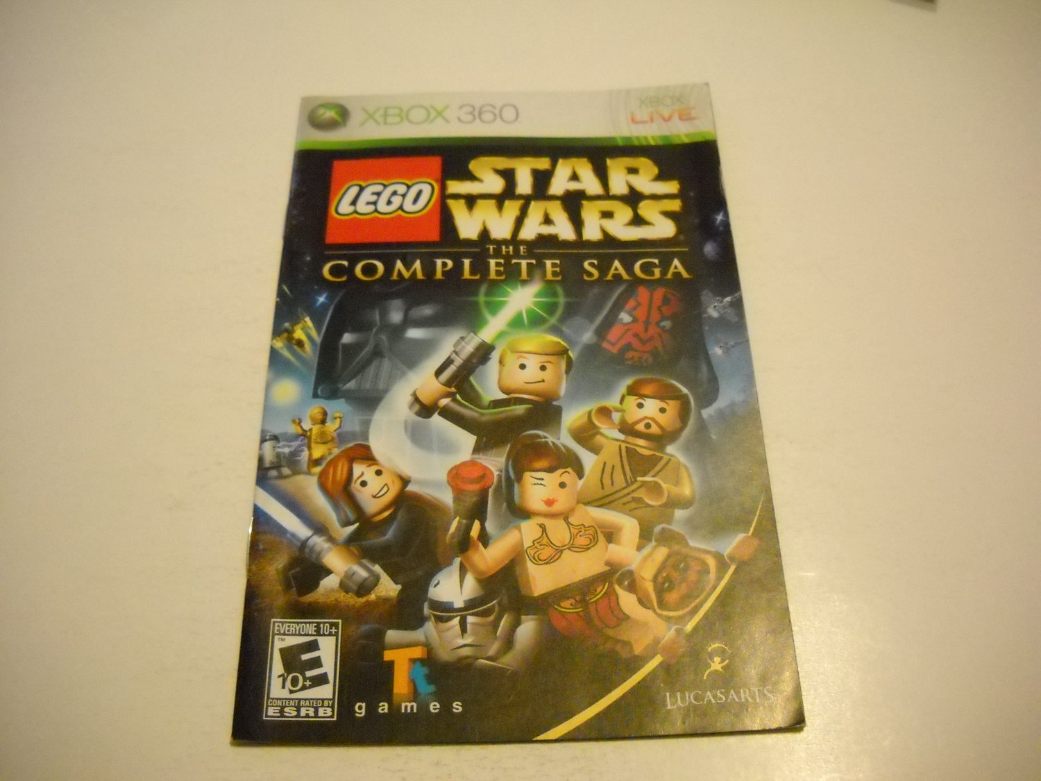 Manual ONLY ~  for Lego Star Wars The Complete Saga   - Xbox 360 Instruction Booklet