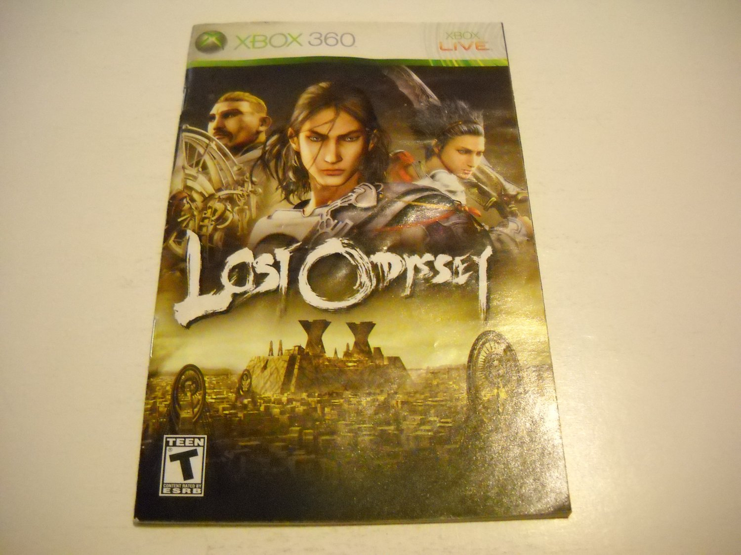 Manual ONLY ~  for Lost Odyssey   - Xbox 360 Instruction Booklet