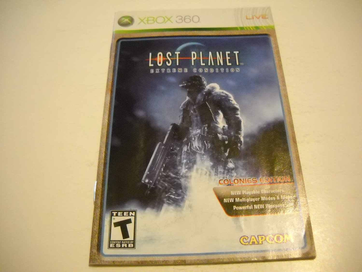 Manual ONLY ~  for Lost Planet Extreme Condition    - Xbox 360 Instruction Booklet