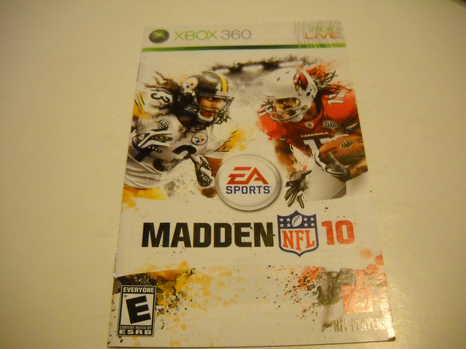 Manual ONLY ~  for Madden NFL 10   - Xbox 360 Instruction Booklet