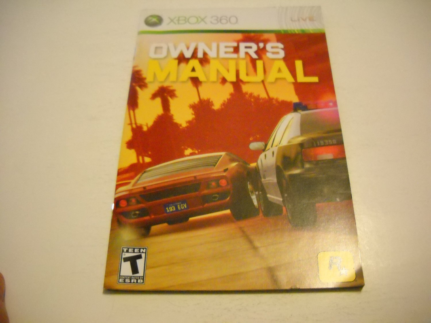 Manual ONLY ~  for Midnight Club Los Angeles   - Xbox 360 Instruction Booklet