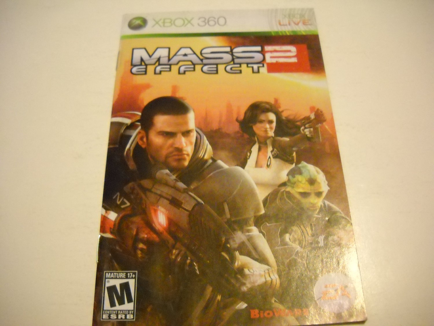 Manual ONLY ~  for Mass Effect 2   - Xbox 360 Instruction Booklet