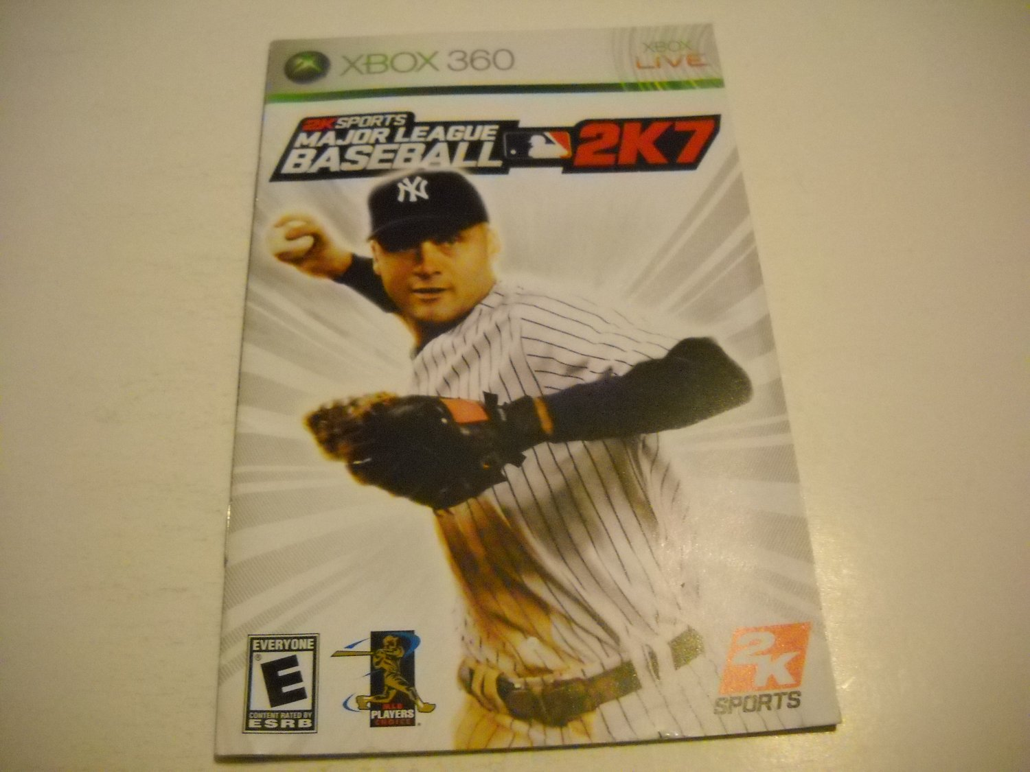 Manual ONLY ~  for Major League Baseball 2K7   - Xbox 360 Instruction Booklet