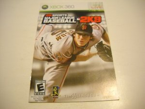 Manual ONLY ~  for Major League Baseball 2K9   - Xbox 360 Instruction Booklet