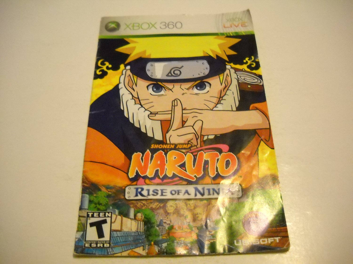Manual ONLY ~  for Naruto Rise of a Ninja   - Xbox 360 Instruction Booklet