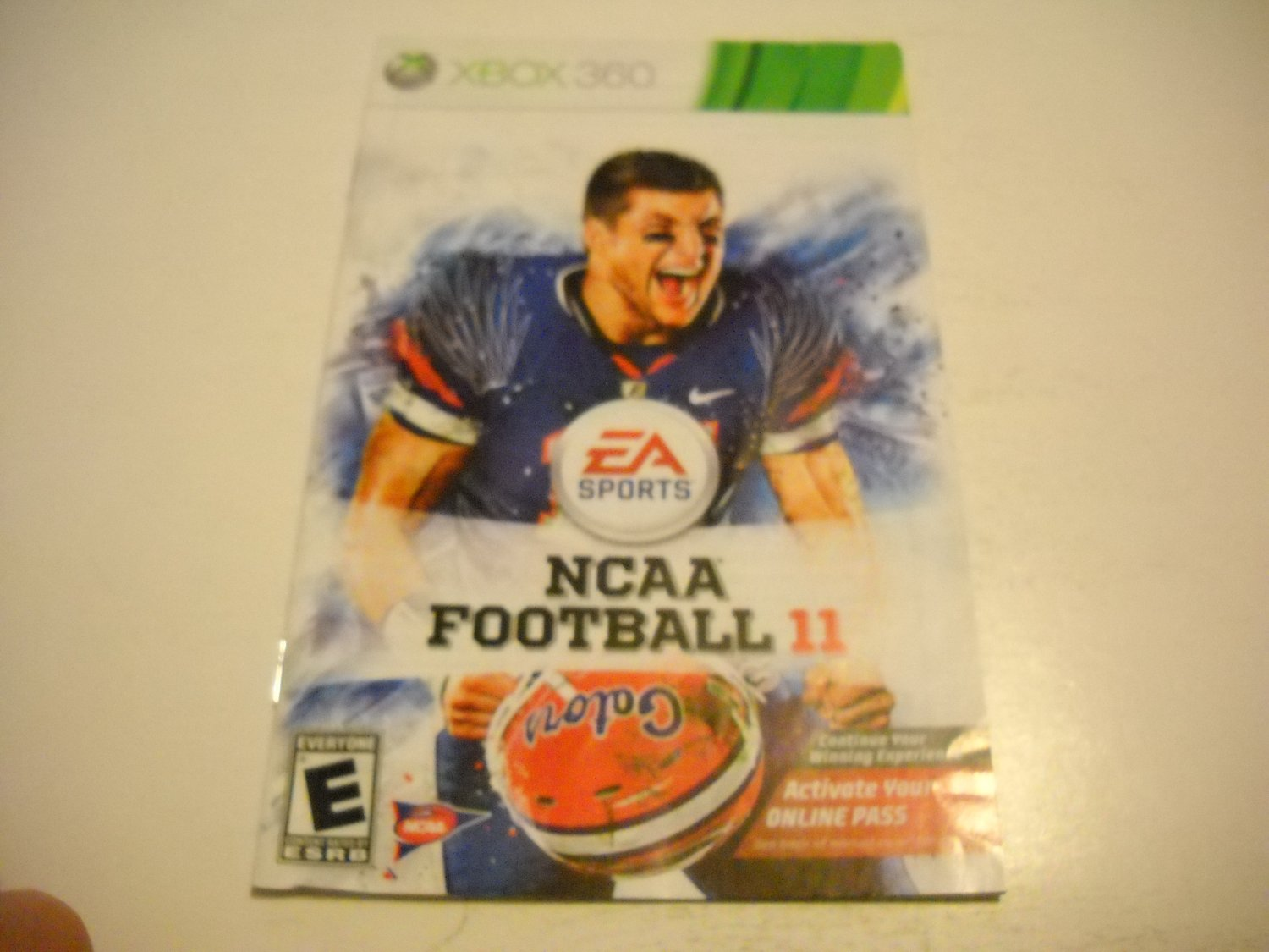 Manual ONLY ~  for NCAA Football 11   - Xbox 360 Instruction Booklet