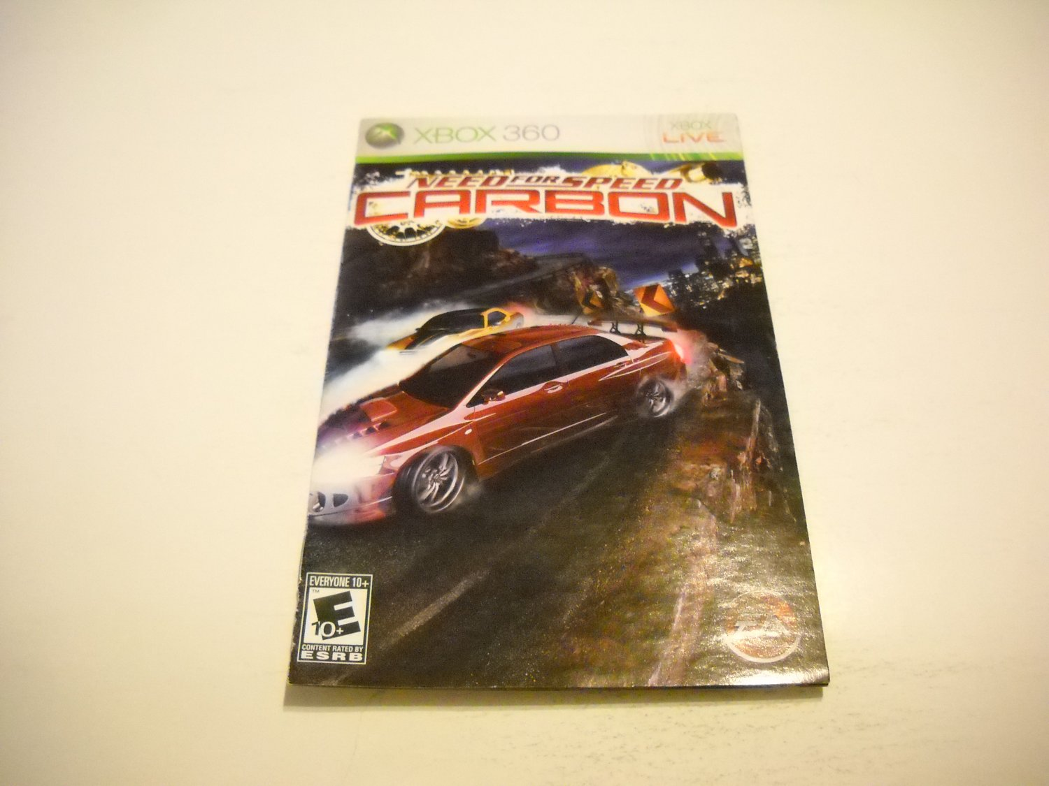 Manual ONLY ~  for Need for Speed Carbon    - Xbox 360 Instruction Booklet