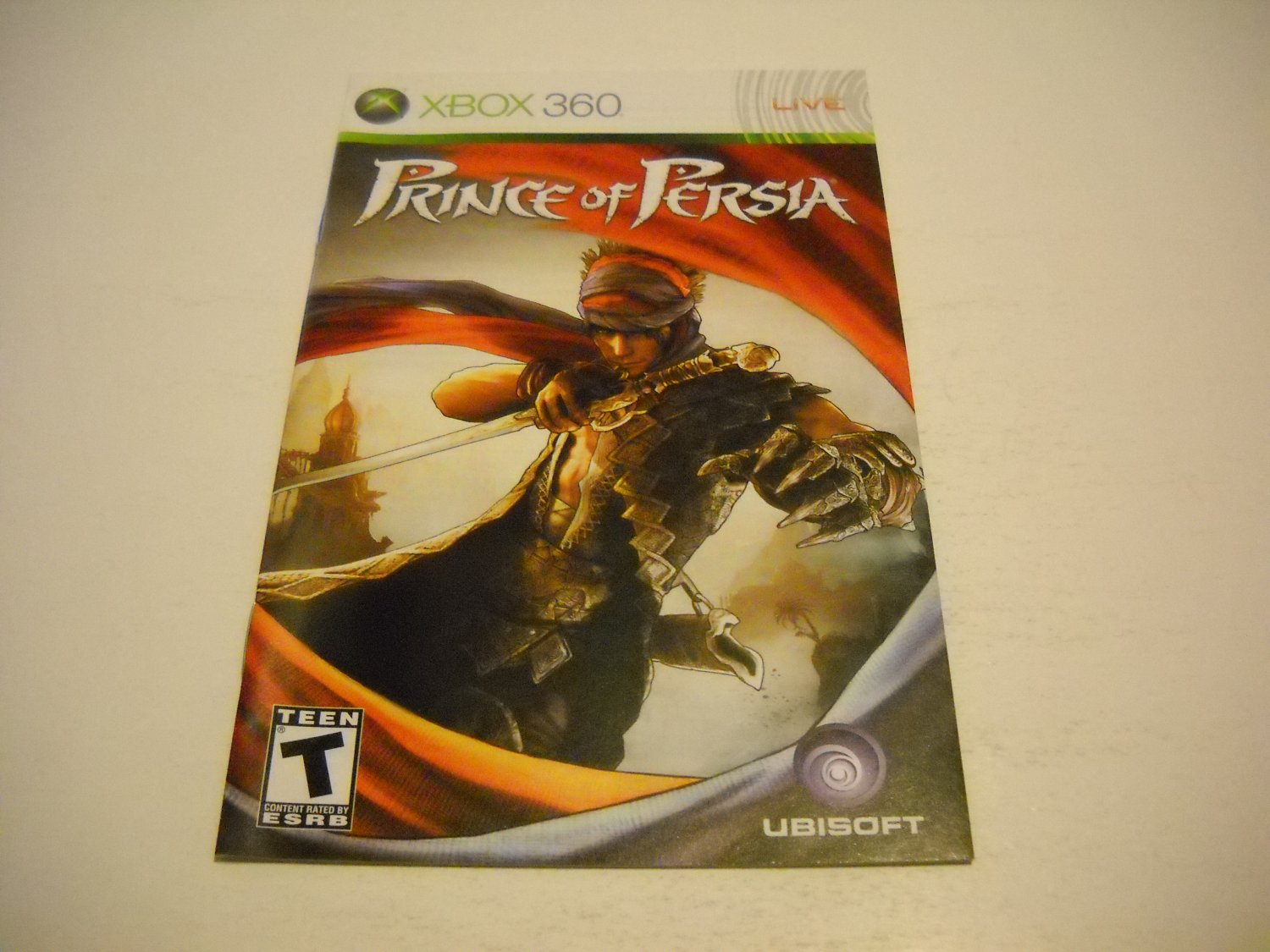 Manual ONLY ~  for Prince of Persia   - Xbox 360 Instruction Booklet