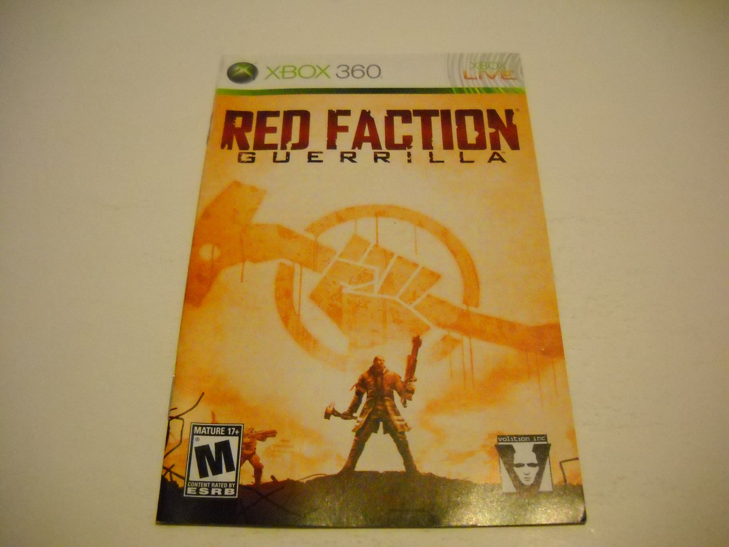 Manual ONLY ~  for Red Faction Guerrilla   - Xbox 360 Instruction Booklet