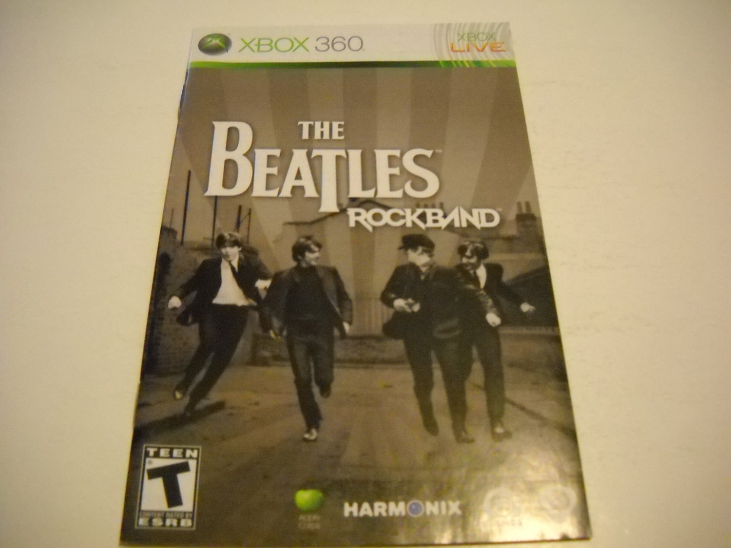 Manual ONLY ~  for The Beatles Rock Band    - Xbox 360 Instruction Booklet