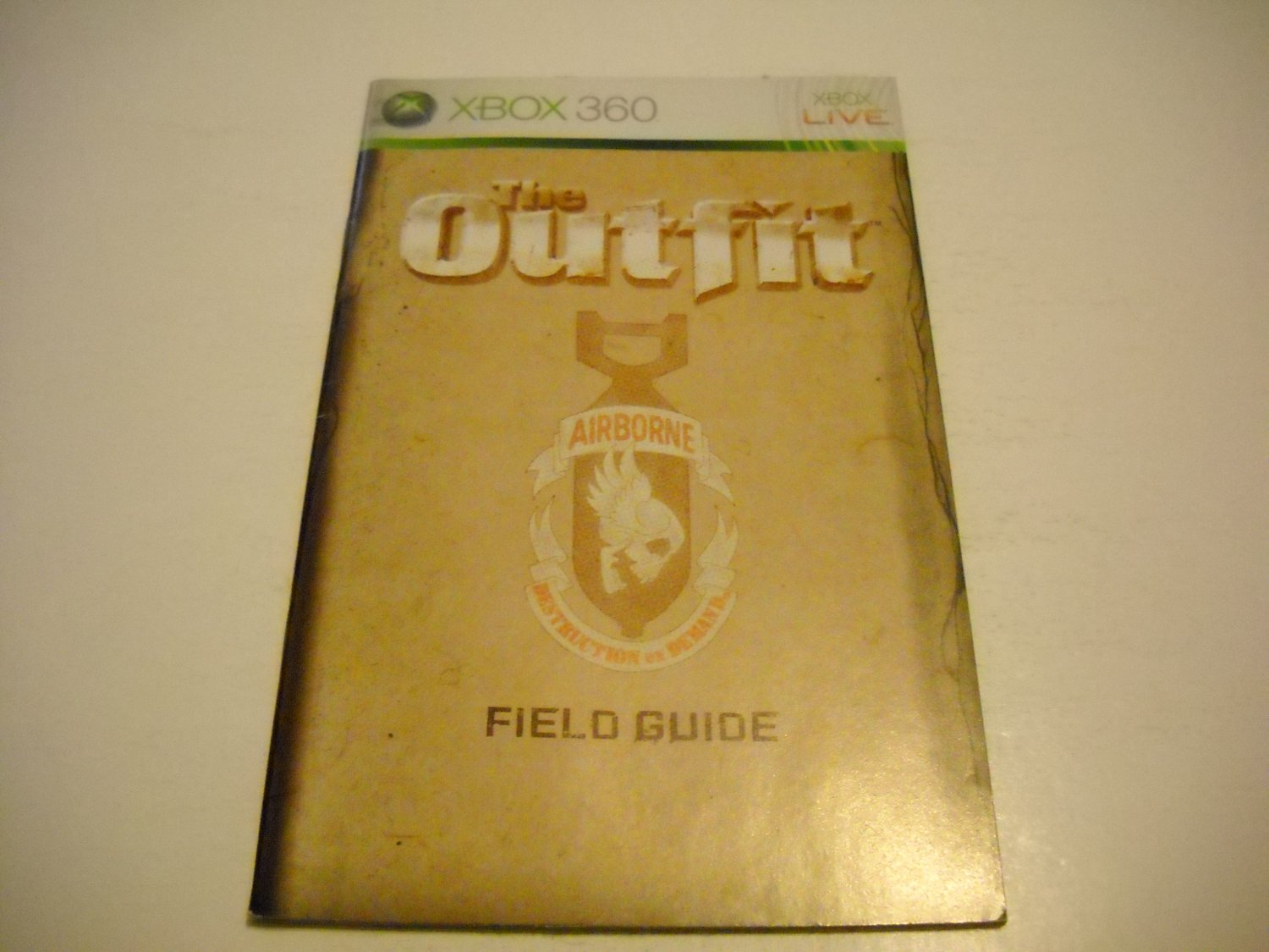 Manual ONLY ~  for The Outfit   - Xbox 360 Instruction Booklet