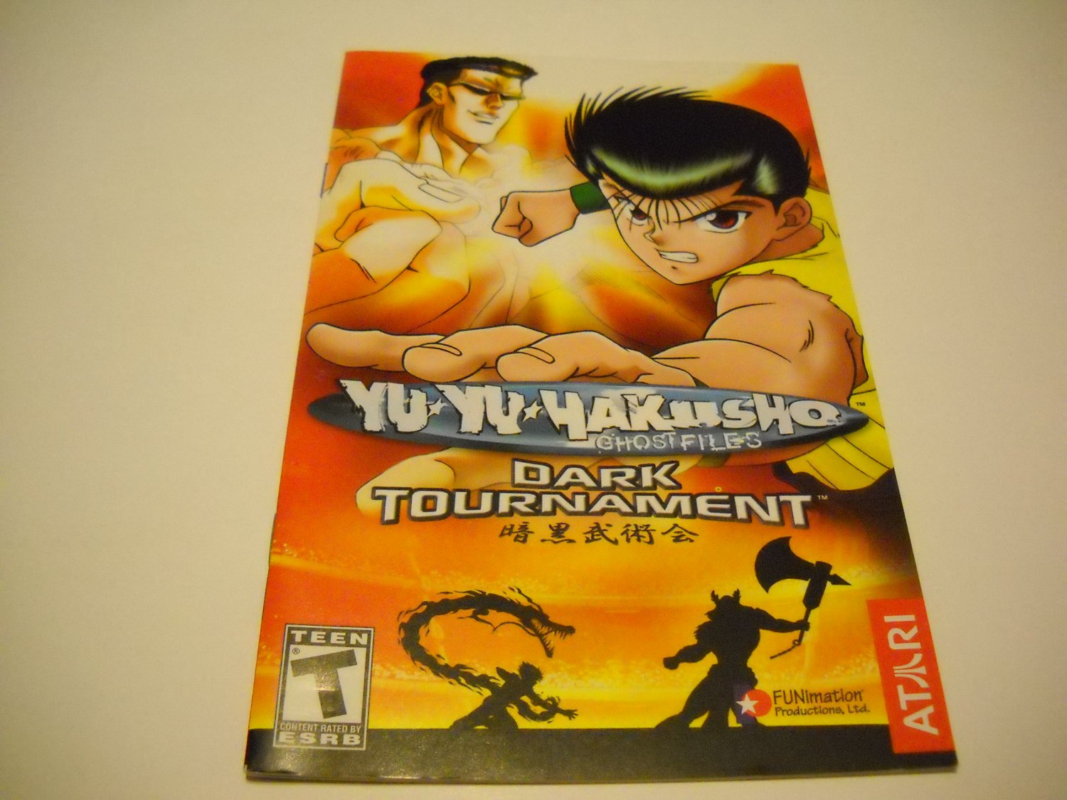 Manual ONLY ~  for Yu Yu Hakusho Ghost Files Dark Tournament   Ps2