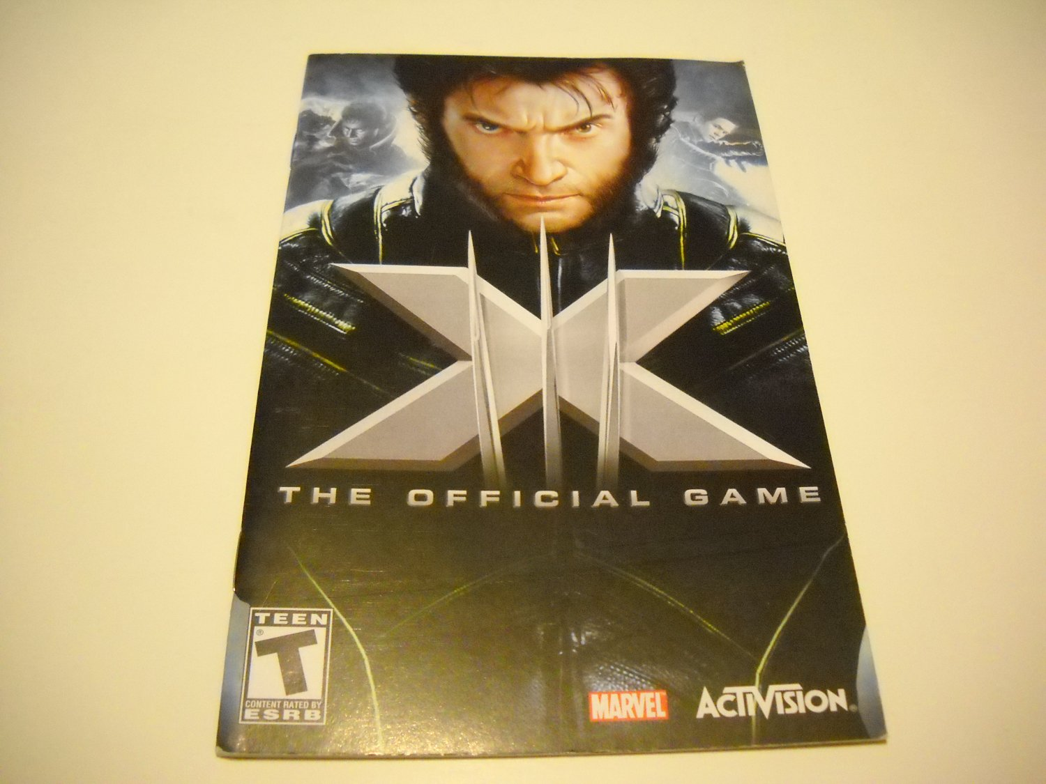 Manual ONLY ~  for X-men The Oficial Game   Ps2