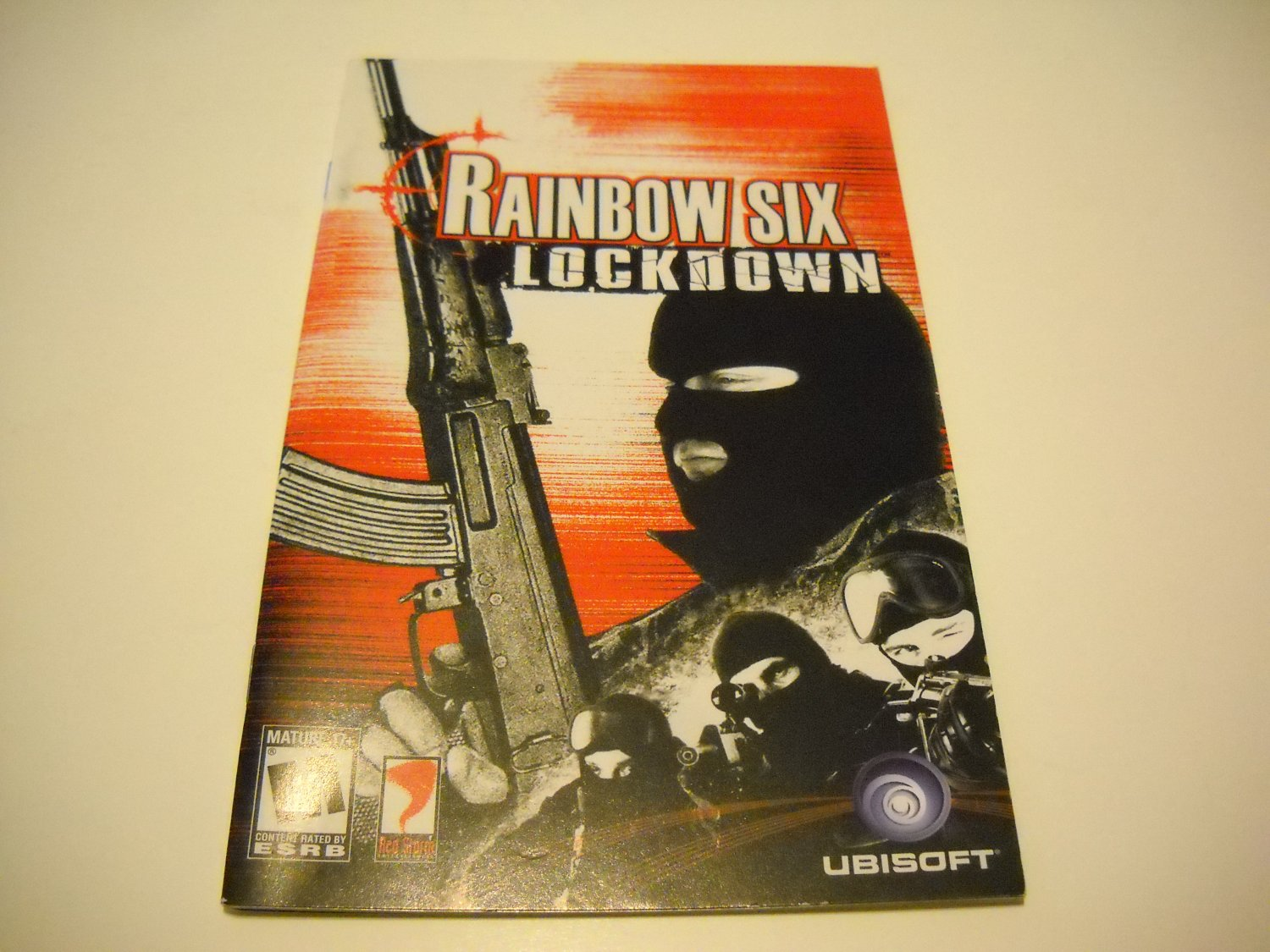 Manual ONLY ~  for Tom Clancy's Rainbow Six Lockdown    Ps2