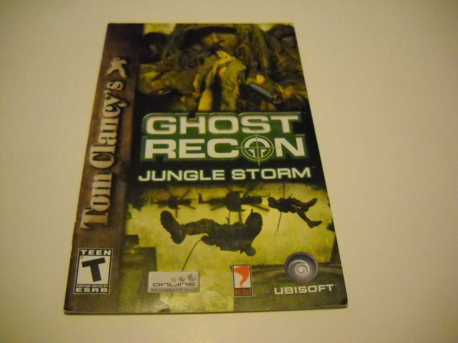 Manual ONLY ~  for Tom Clancy's Ghost Recon Jungle Storm   Ps2
