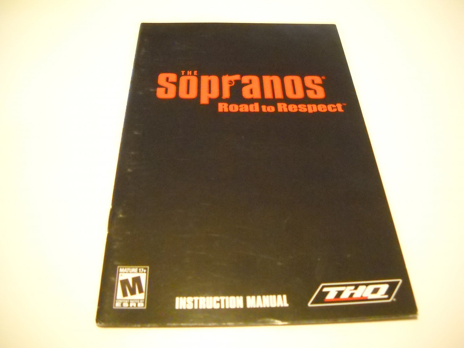 Manual ONLY ~  for The Sopranos Road to Respect   Ps2