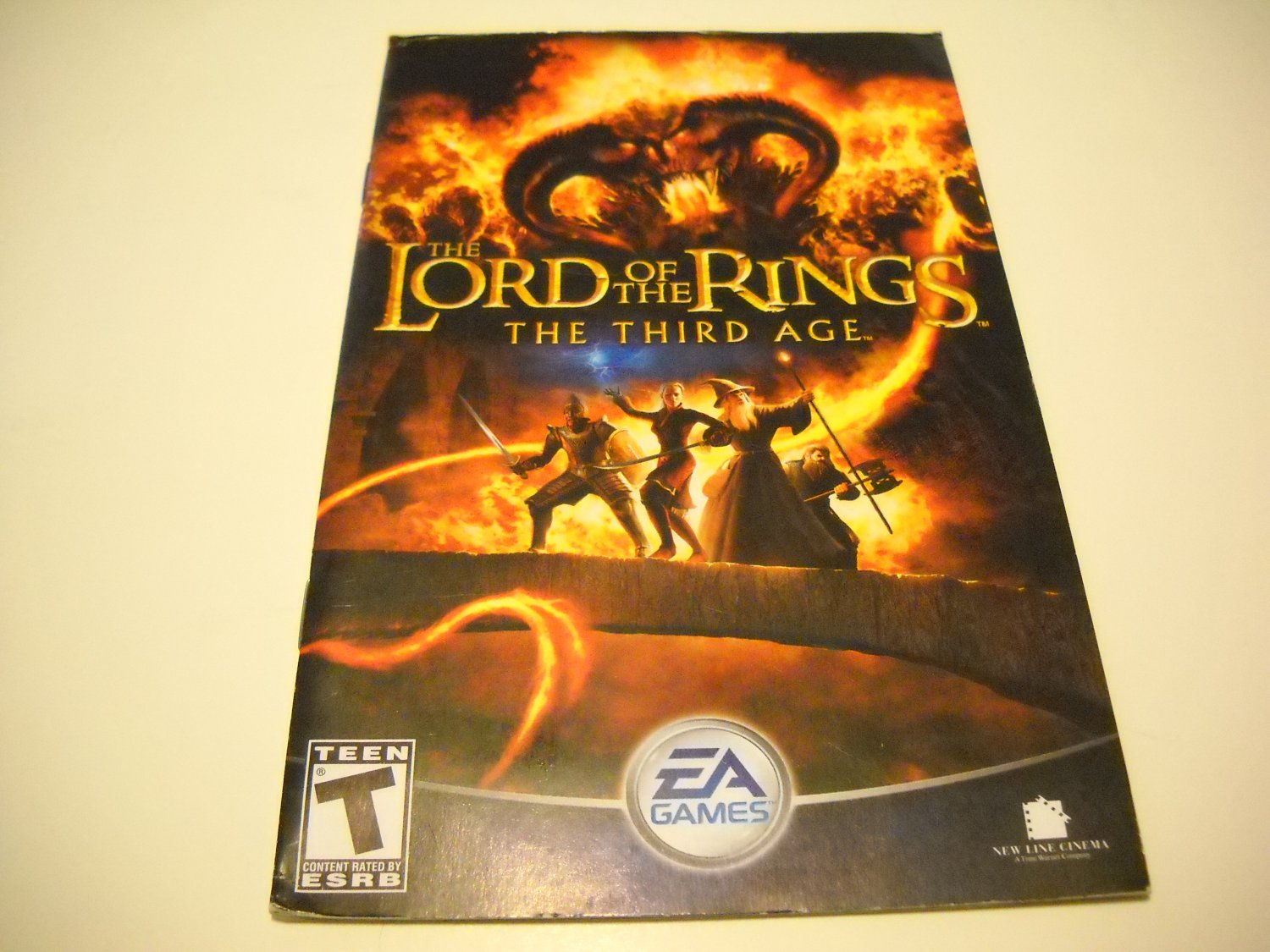 Manual ONLY ~  for The Lord of the Rings The Third Age   Ps2