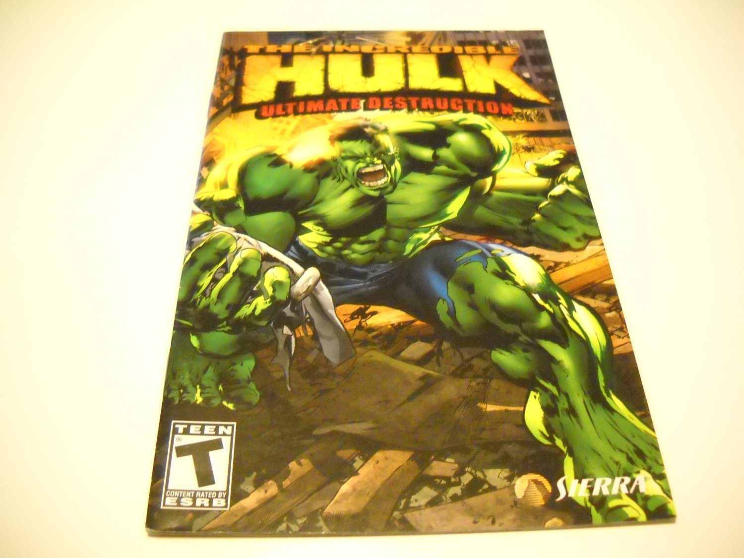 Manual ONLY ~  for The Incredible Hulk Ultimate Destruction   Ps2