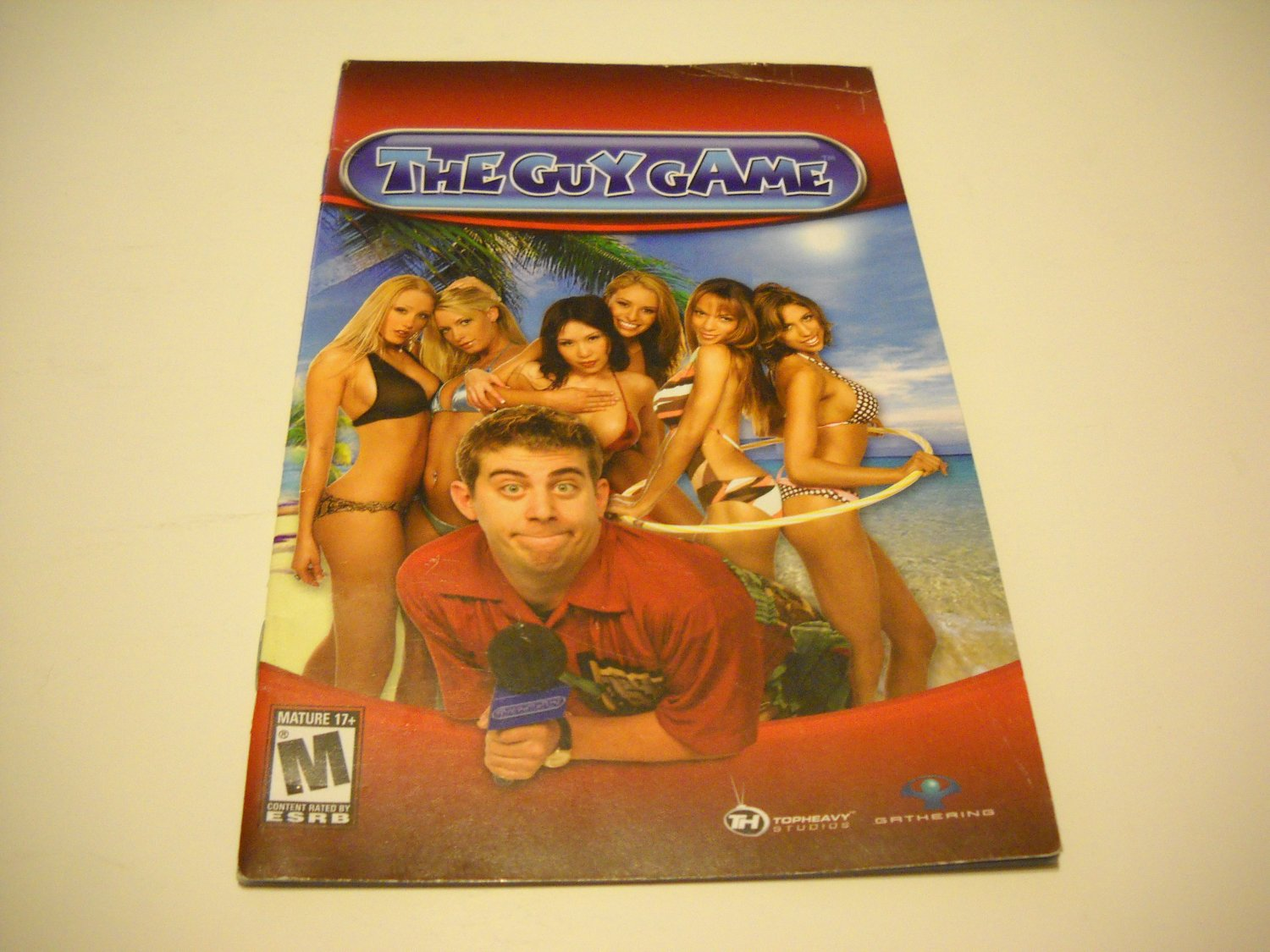 Manual ONLY ~  for The Guy Game   Ps2