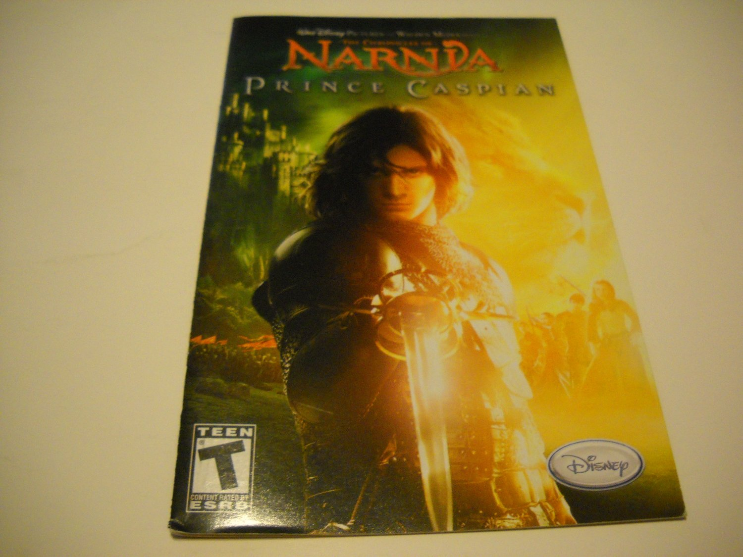 Manual ONLY ~  for The Chronicles of Narnia Prince Caspian   Ps2