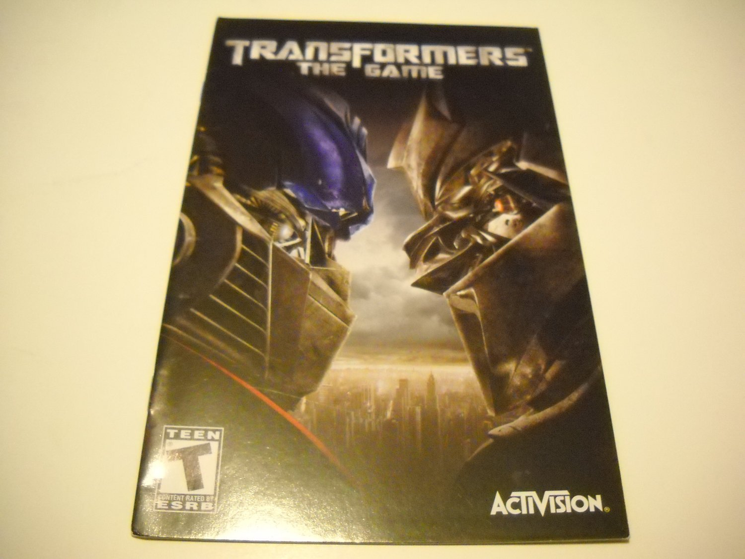 Manual ONLY ~  for Transformers The Game   Ps2