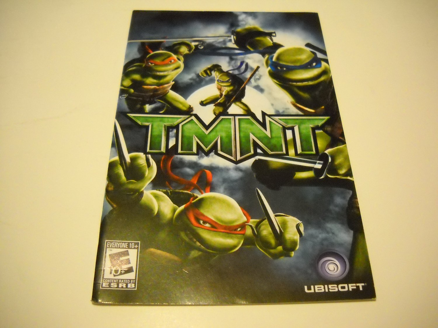 Manual ONLY ~  for TMNT   Ps2