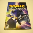 Manual ONLY ~  for Sonic Unleashed   Ps2