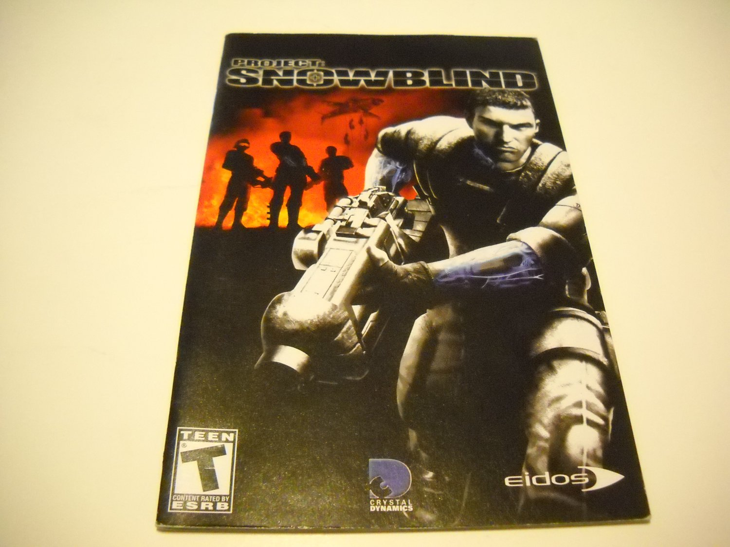 Manual ONLY ~  for Project Snowblind   Ps2