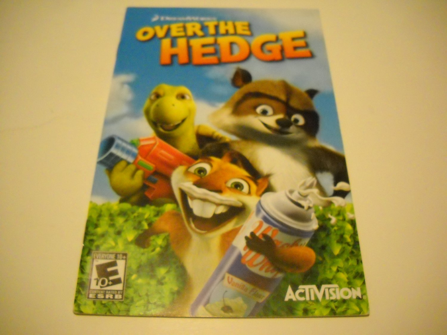 Manual ONLY ~  for Over the Hedge   Ps2