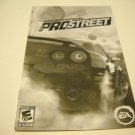 Manual ONLY ~  for Need for Speed ProStreet   Ps2