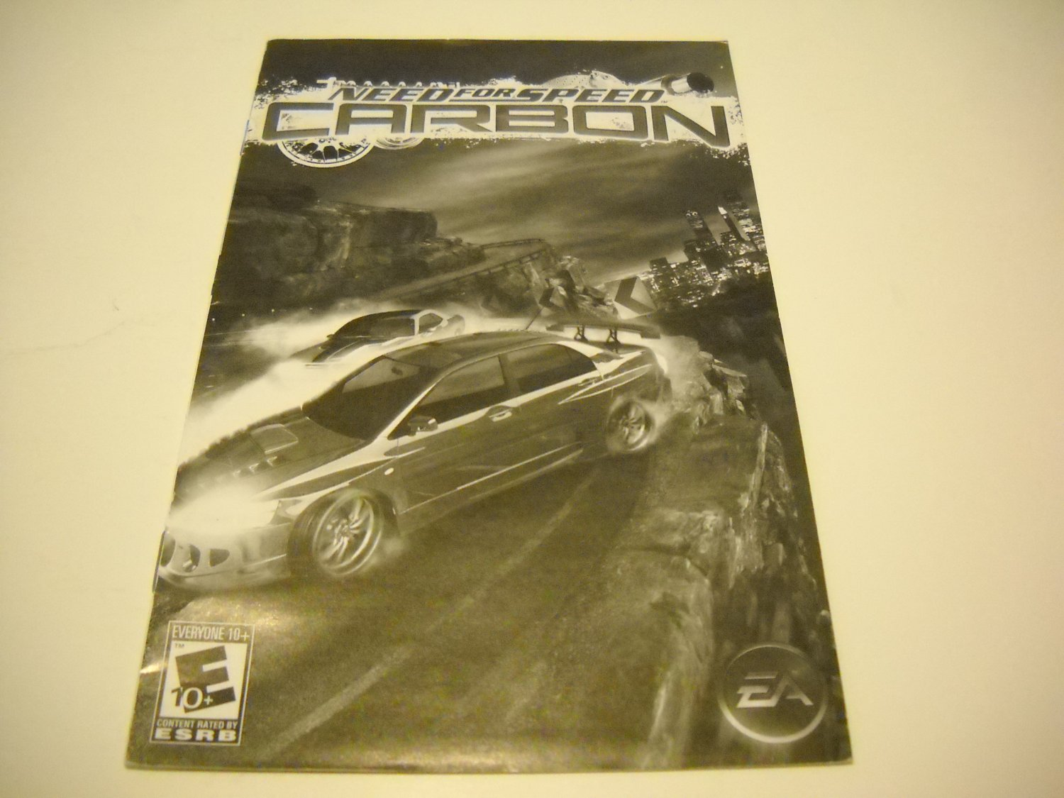 Manual ONLY ~  for Need for Speed Carbon   Ps2