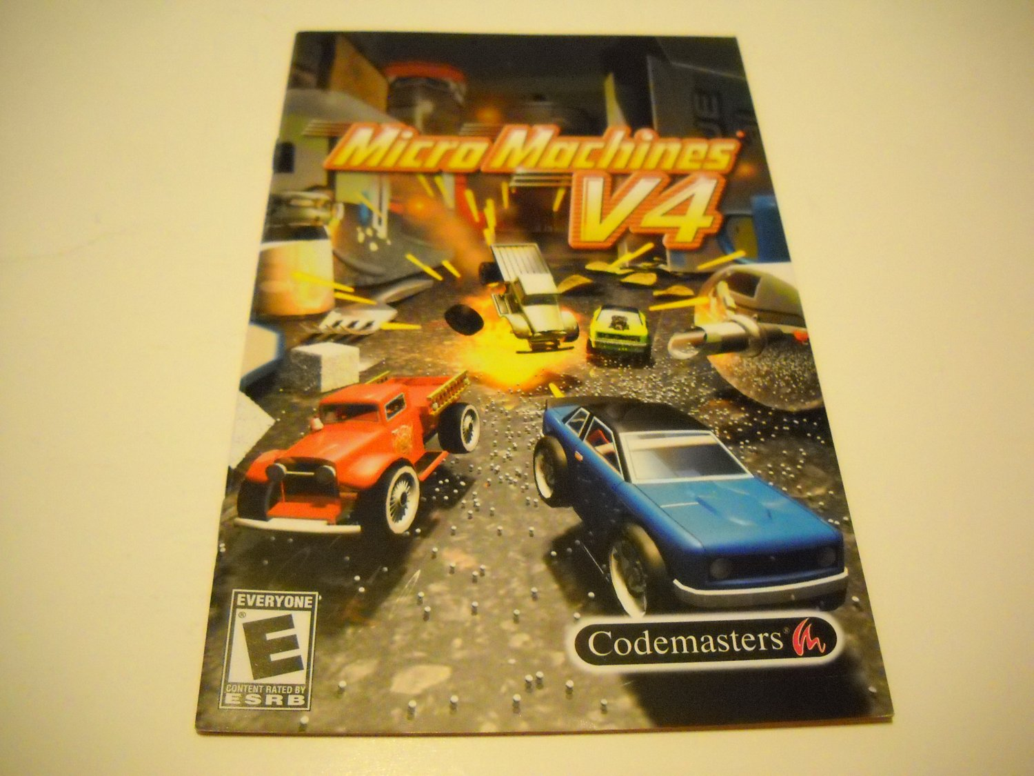 Manual ONLY ~  for Micro Machines V4   Ps2