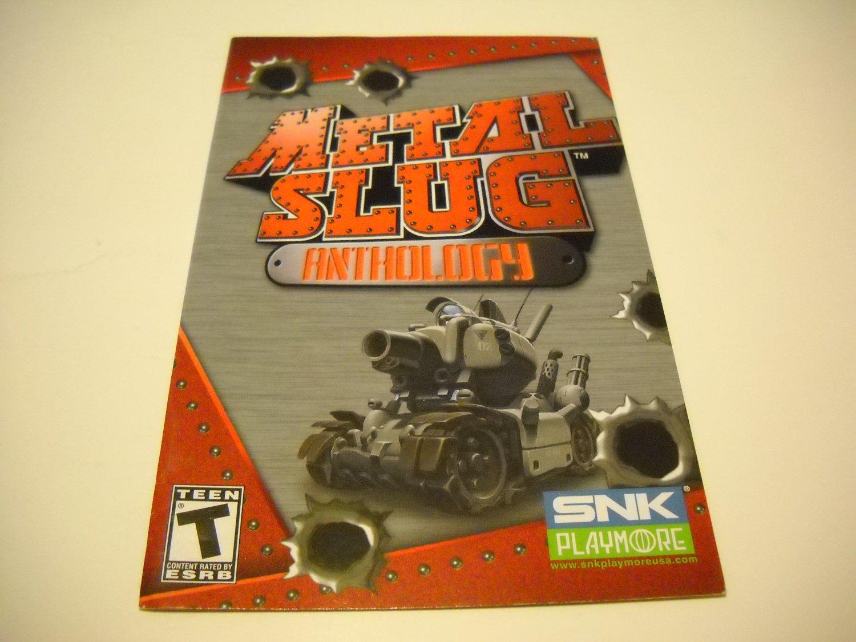 Manual ONLY ~  for Metal Slug Anthology   Ps2