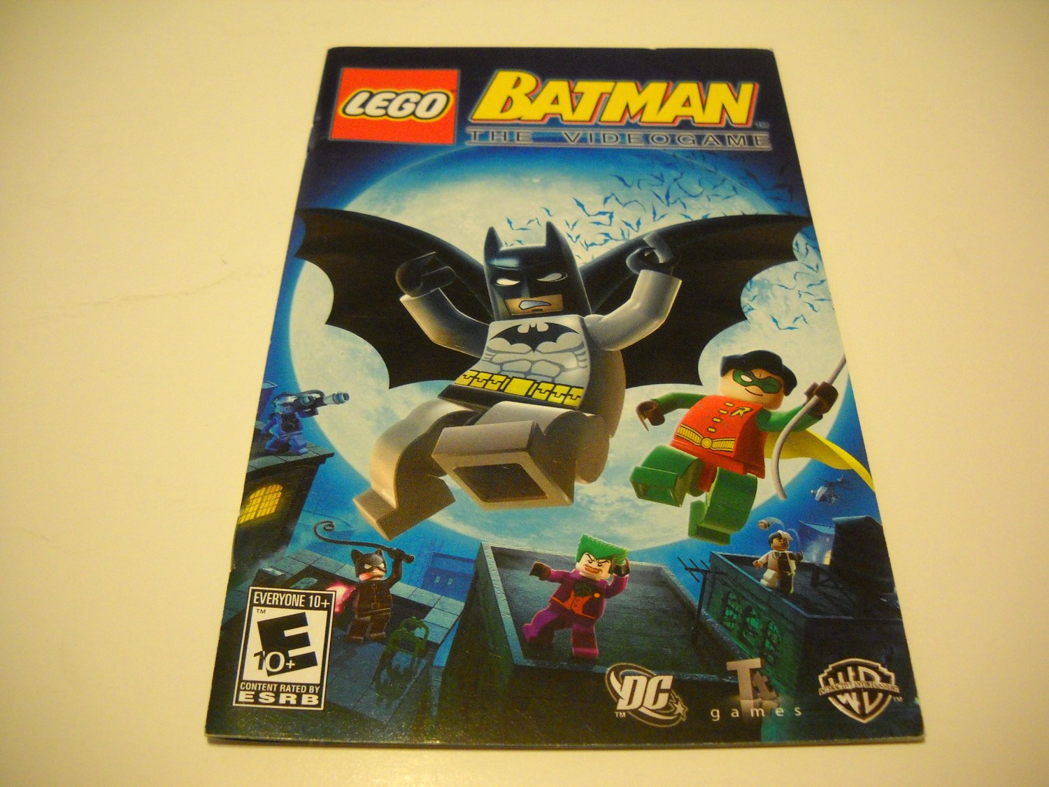 Manual ONLY ~  for Lego Batman The Videogame   Ps2