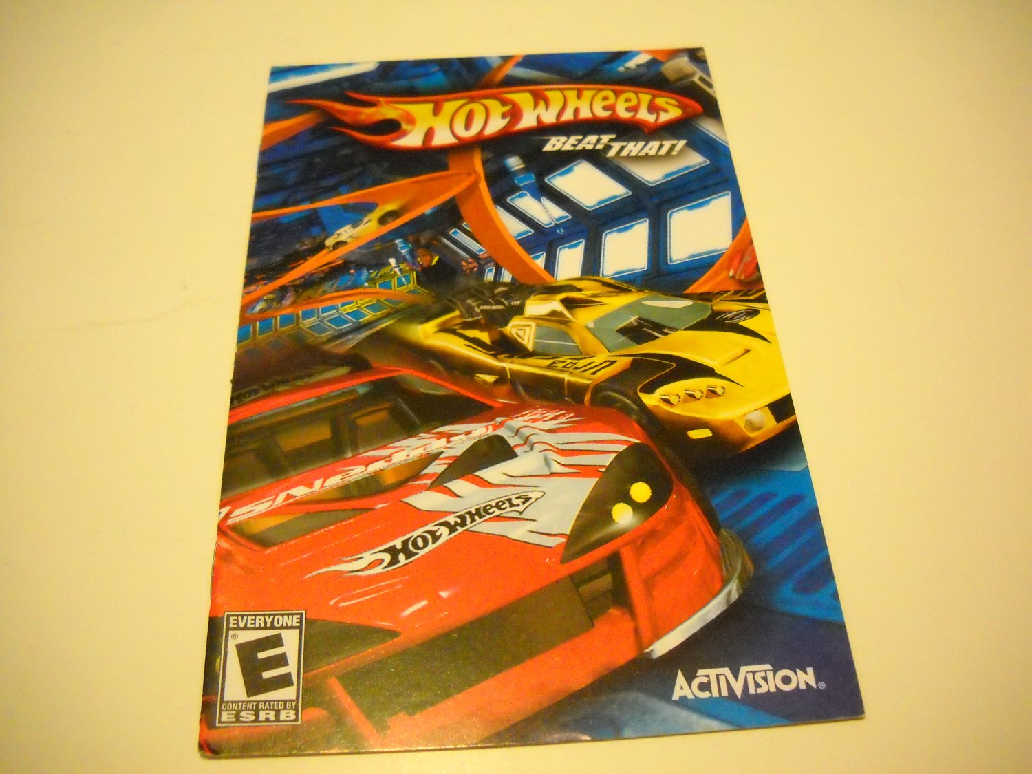 Manual ONLY ~  for Hot Wheels Beat That   Ps2