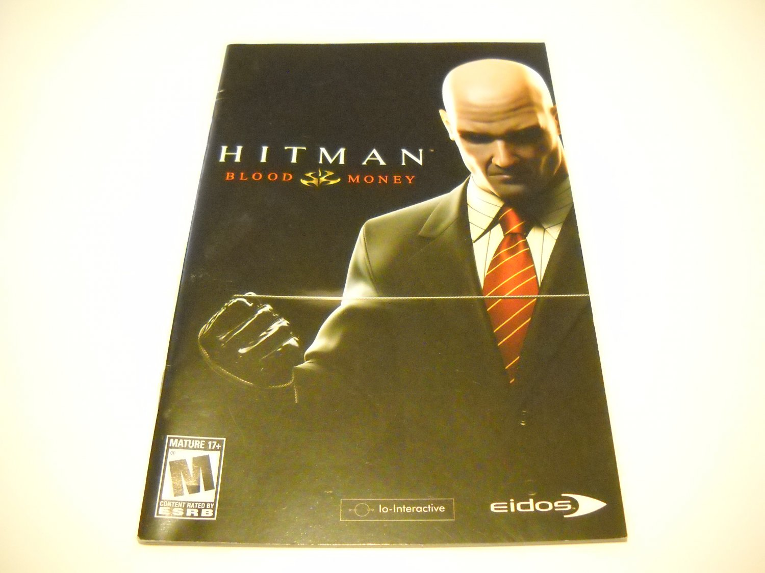 Manual ONLY ~  for Hitman Blood Money   Ps2