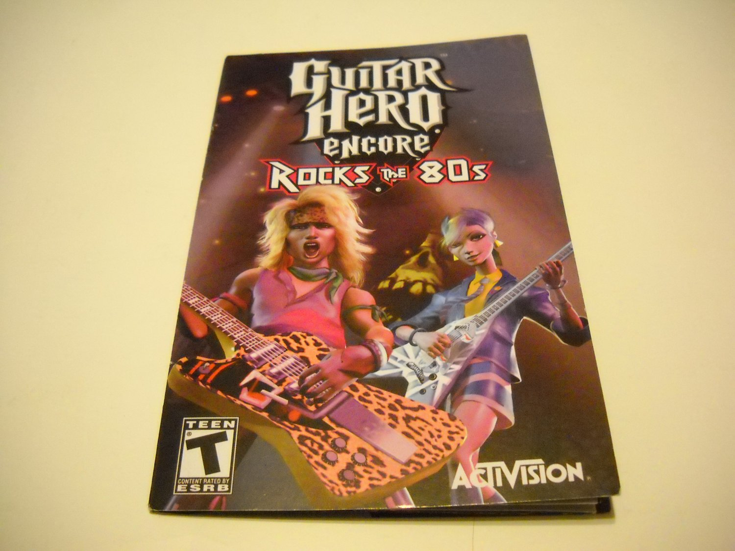 Manual ONLY ~  for Guitar Hero Encore Rocks the 80's   Ps2