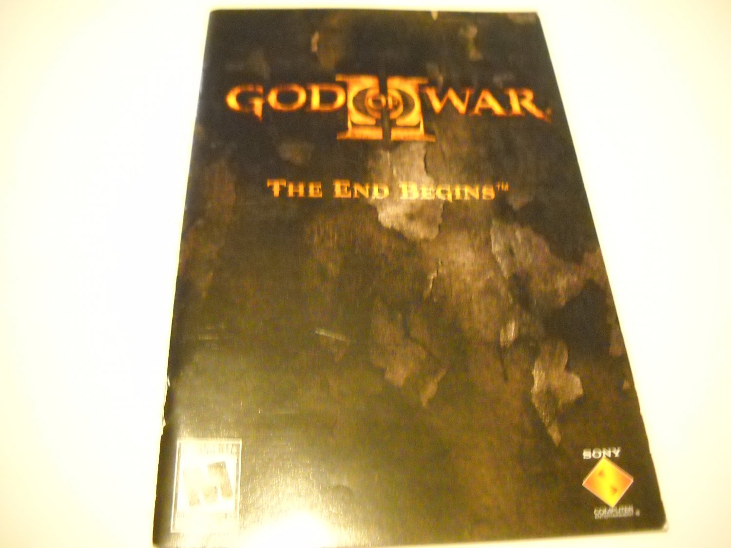 Manual ONLY ~  for God of War II The End Begins   Ps2