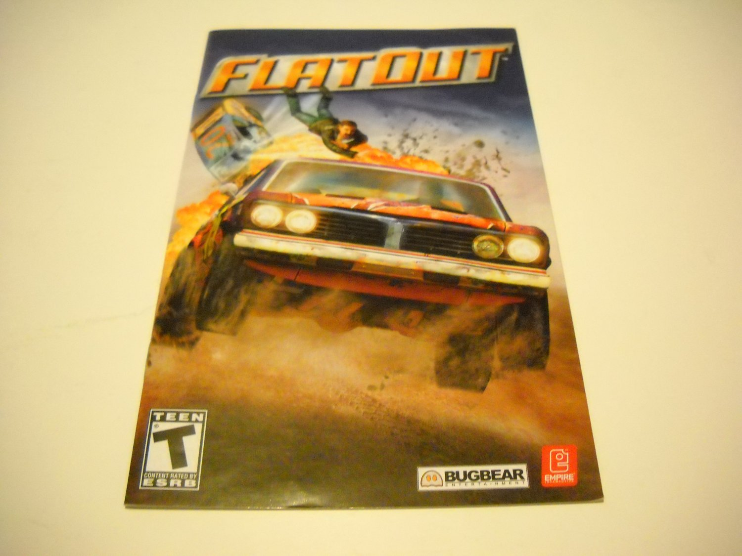 Manual ONLY ~  for Flatout    Ps2