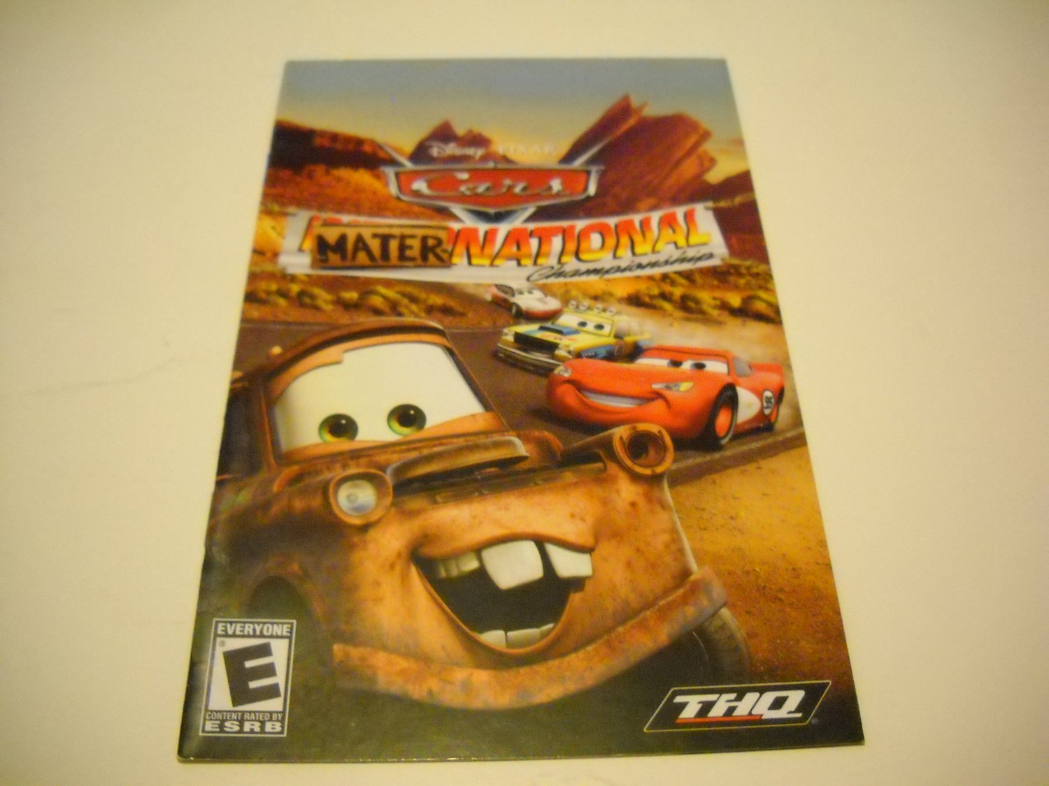 Manual ONLY ~  for Disney Pixar Cars Mater National Championship   Ps2